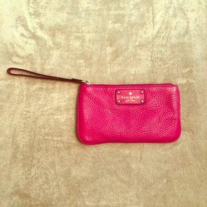 Kate Spade Classic Pink Wristlet